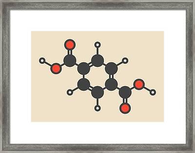 Polyester Building Block Molecule Framed Print by Molekuul