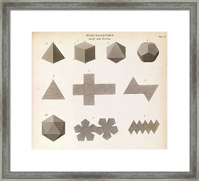 Polyhedron Geometry Framed Print by Middle Temple Library