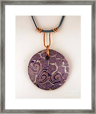 Polymer Clay Pendant Mc04211205 Framed Print by P Russell