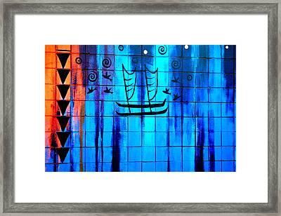 Polynesian Graffiti  Framed Print by Karon Melillo DeVega