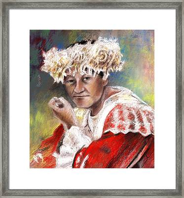 Polynesian Woman Framed Print by Miki De Goodaboom