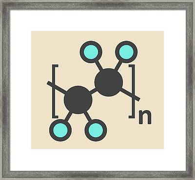 Polytetrafluoroethylene Polymer Molecule Framed Print by Molekuul