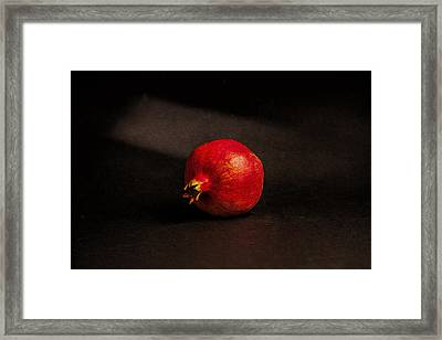 Pomegranate Framed Print by Peter Tellone