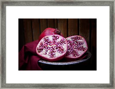 Pomegranate Still Life Framed Print by Tom Mc Nemar