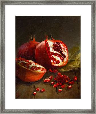 Pomegranates 2014 Framed Print by Robert Papp
