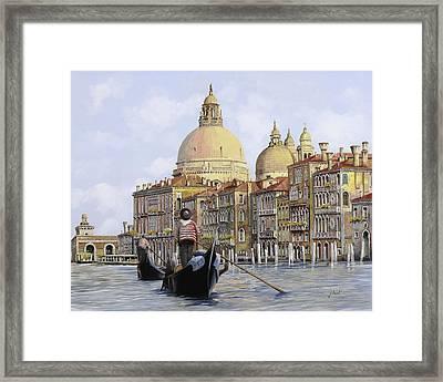 Pomeriggio A Venezia Framed Print by Guido Borelli