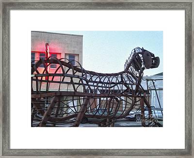 Pomona Art Walk - Metal Horse Framed Print by Gregory Dyer
