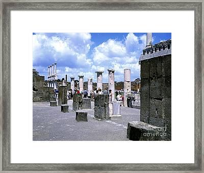 Pompeii, Italy Framed Print by Rafael Macia