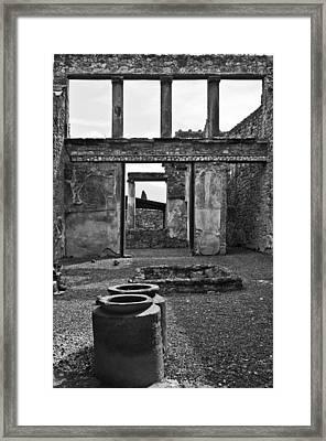 Pompeii Urns Framed Print by Marion Galt
