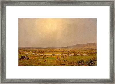 Pompton Plains. New Jersey Framed Print by Jasper Francis Cropsey