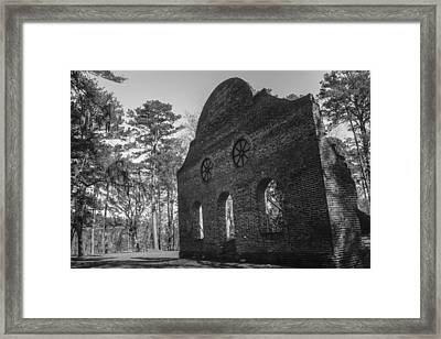 Pon Pon Chapel Of Ease 3 Bw  Framed Print by Steven  Taylor
