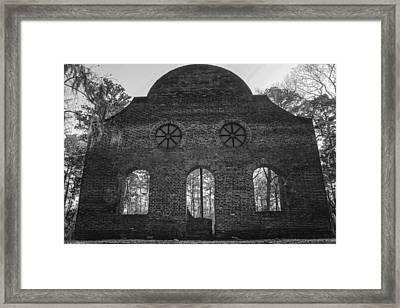Pon Pon Chapel Of Ease 5 Bw Framed Print by Steven  Taylor