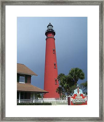 Ponce De Leon Inlet Light 3 Framed Print by Cathy Lindsey