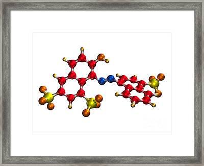 Ponceau Red Food Coloring Molecule Framed Print by Dr. Mark J. Winter