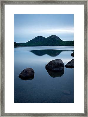 Pond At Dawn, Jordan Pond, Bubble Pond Framed Print by Panoramic Images