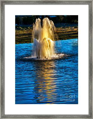 Pond Fountain Framed Print by Robert Bales