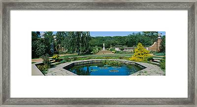 Pond In A Botanical Garden, English Framed Print by Panoramic Images