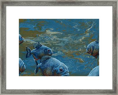 Pond Thugs Framed Print by Cara Bevan