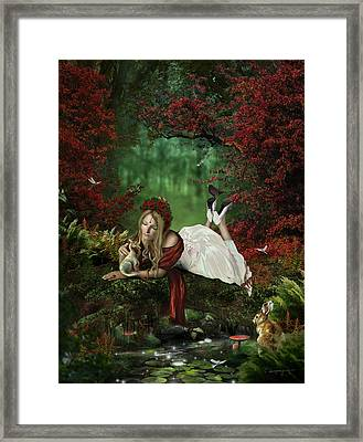 Pondering Framed Print by Cassiopeia Art