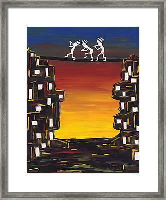 Pondering Creation - Is There Life Out There Framed Print by Barbara St Jean