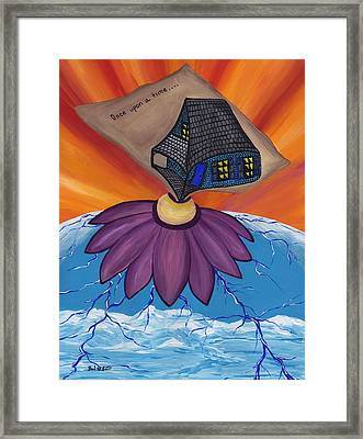 Pondering Creation - Once Upon A Time Framed Print by Barbara St Jean