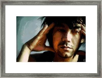 Pondering Framed Print by Gun Legler