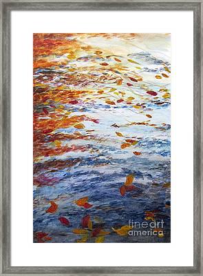 Pondering Leaves Framed Print by Jeanne Ward