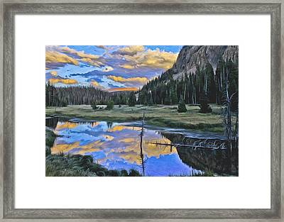Pondering Reflections Framed Print by David Kehrli
