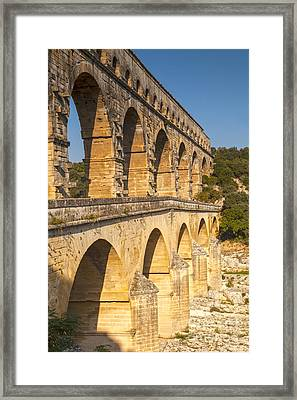 Pont Du Gard Roman Aquaduct Languedoc-roussillon France Framed Print by Colin and Linda McKie