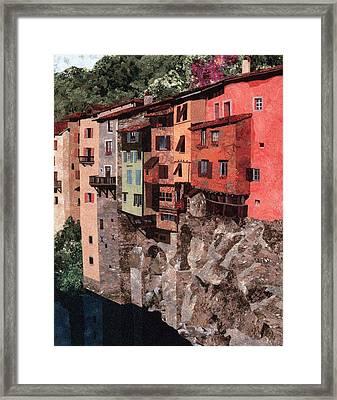 Pont En Royans Framed Print by Lenore Crawford