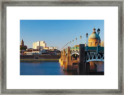 Pont Saint-pierre Bridge And The Dome Framed Print by Panoramic Images