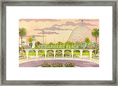 Pontchartrain Beach Framed Print by Joyce Hensley