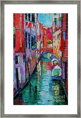 Ponte Raspi O Sansoni - Venice - Italy Framed Print by Mona Edulesco