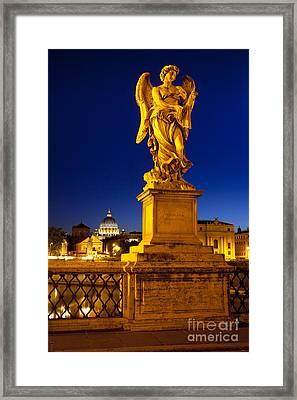 Ponte Sant Angelo Framed Print by Brian Jannsen