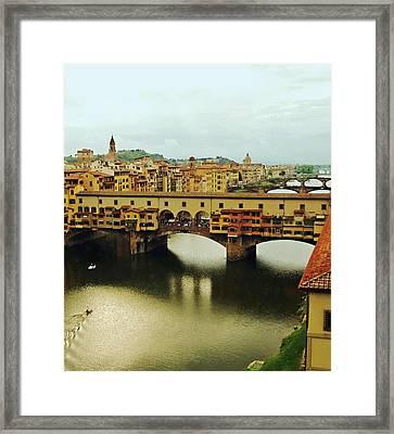 Ponte Vecchio 2 Framed Print by Ellen Henneke