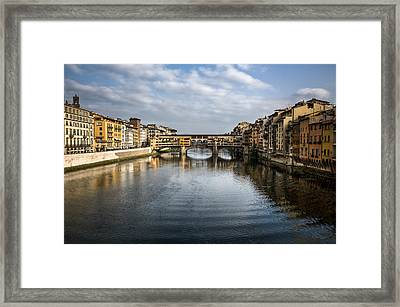 Ponte Vecchio Framed Print by Dave Bowman