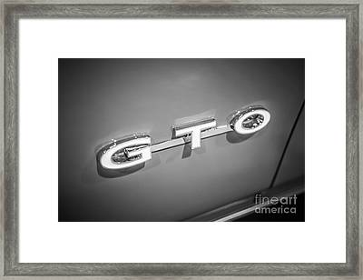 Pontiac Gto Emblem Framed Print by Paul Velgos