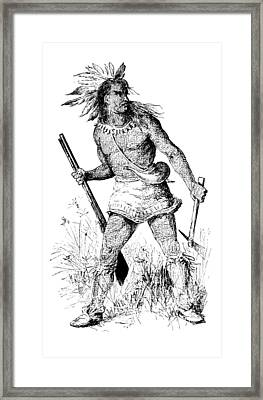 Framed Print featuring the photograph Pontiac, Odawa War Chief by British Library