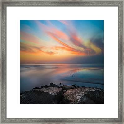 Ponto Jett Sunset - Square Framed Print by Larry Marshall