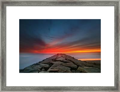 Ponto Jetty Sunset 4 Framed Print by Larry Marshall