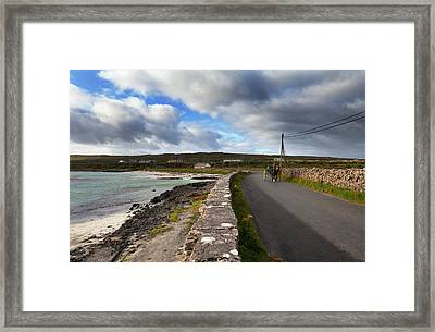 Pony And Trap On The Road From Kilronan Framed Print by Panoramic Images
