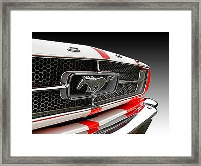 Pony Car Grille Framed Print by Gill Billington