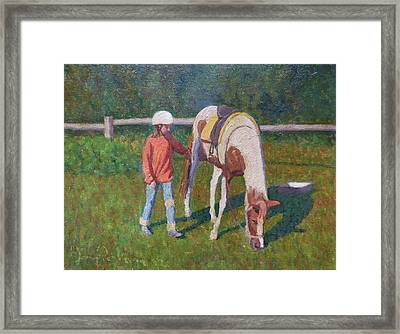 Pony Framed Print by Terry Perham