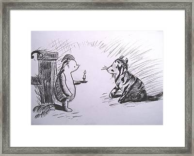 Pooh And Tigger Framed Print by Jessica Sanders