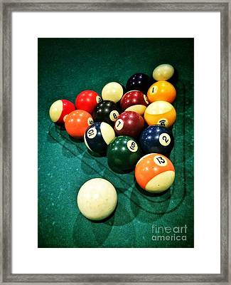 Pool Balls Framed Print by Carlos Caetano