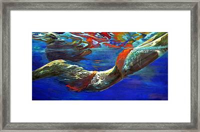 Pool Swimmer Framed Print by Lina Golan