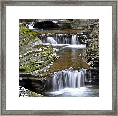 Pools Of Green Framed Print by Frozen in Time Fine Art Photography
