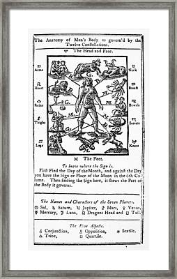 Poor Richards Almanack Framed Print by Granger