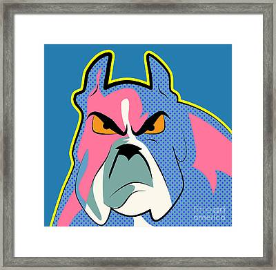 Pop Art Dog  Framed Print by Mark Ashkenazi