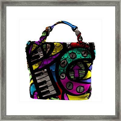 Pop Art Hand Bag Painting Framed Print by Marvin Blaine